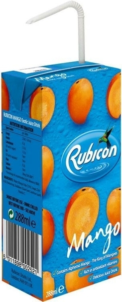 Rubicon Mango Juice 288ml Indian And African Grocery Store