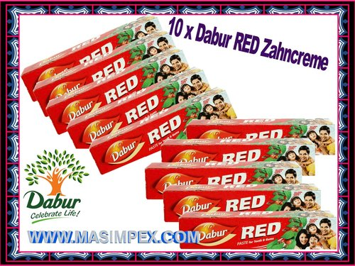 Dabur Red Zahncreme 10x100ml Tube